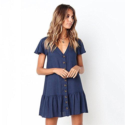 Sottile Abito sullaScollo blue Vestito Cocktail abiti Elegante Confortevole da estivi a Matrimoni Pizzo Abiti V Smx Sera Banchetto 7qYt4RT4w