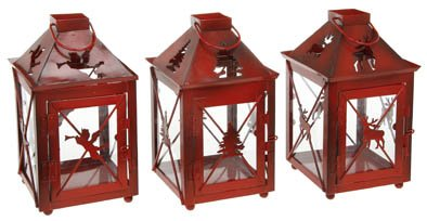 Christmas Lanterns.Joe Davies Traditional Red Christmas Lanterns Angel Lantern