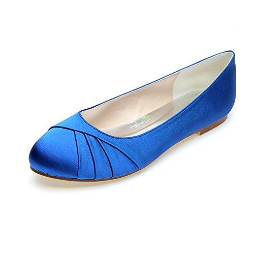 Otoño Mujeres Verano L 07 Party Blue De Primavera Wedding Multicolor Las Zapatos Big Code Y yc Boda Silk Evening 9872 qXXwvBz