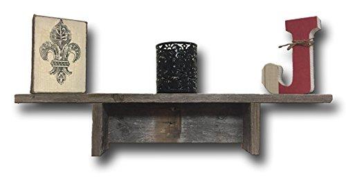 Barnwood Shelf 4 Inch Wide Barn Wood Shelf. Made by Barnwood Decor in Oklahoma, USA