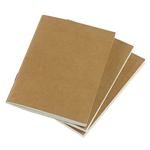 Passport Travelers Notebook Inserts, 64-Pages, 3-Pack, Blank Paper