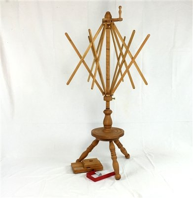 Strauch Yarn Swift / Skeinwinder Combination Table & Floor Model Cherry by Strauch Fiber Equipment