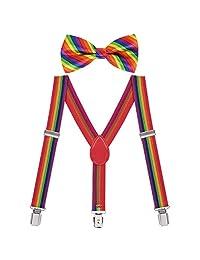 HDE Kids Y-Shape Suspender Pre-Tie Bowtie Set For Toddler Boy Child Suit Tuxedo