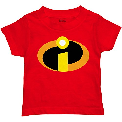 Disney Little Boys' The Incredibles Logo Costume T-Shirt (2T, Red)