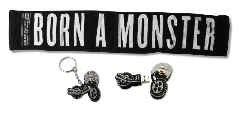Lady Gaga 3-Piece Set Monster Towel / Motorcycle USB Drive / Motorcycle Keychain