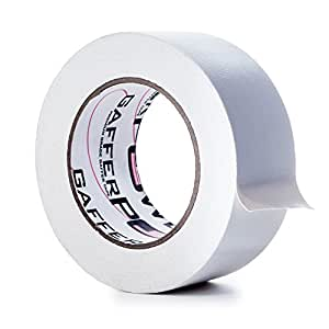 REAL Professional Premium Grade Gaffer Tape by Gaffer Power - Made in the USA - White 2 Inch X 30 Yards - Heavy Duty Gaffer's Tape - Non-Reflective - Multipurpose - Better than Duct Tape