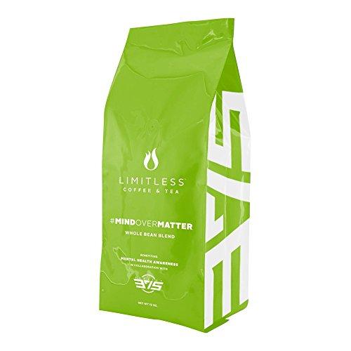 Limitless Coffee Whole Bean Air Roasted Coffee, Dark Roast, 12 Ounce