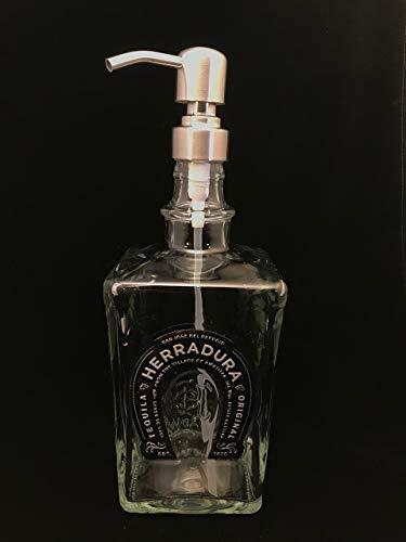 Glass Dispenser for Soap/Lotion - Herradura - Reclaimed Bottle - 750 ml