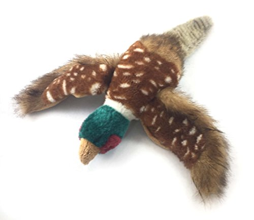 Sancho & Lola's Closet 'Philbert the Pheasant' Dog Toy with Quaker by for Interactive Play, Medium, Plush, Multicolored Supporting Dog Rescue Since 2015 (14-inch).