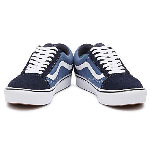 True Navy Sneaker Skool Comfycush Bianco true Old White Marina Vans xfZq80ww
