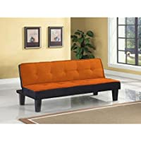 Color Block Futon Adjustable Sofa, Multiple Colors