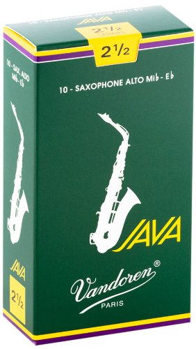 Vandoren SR2625 Alto Sax JAVA Reeds Strength 2.5; Box of 10