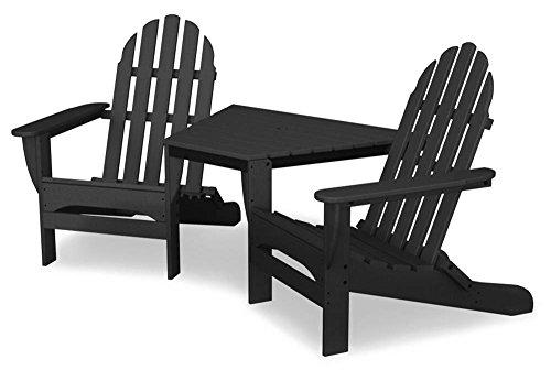 Polywood TT4040GY Adirondack Chair, Slate Grey