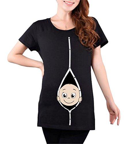 Manica Shirt T Stampa Kerlana Estive Premaman Gravidanza Bluse Camicetta Top Magliette Divertente Corta Donna Magliette X8TnZ8