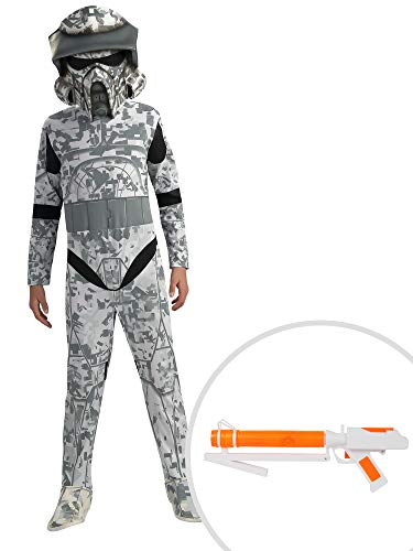 Star Wars Arf Trooper Costume Kit Kids Large With Clonetrooper Blaster ()