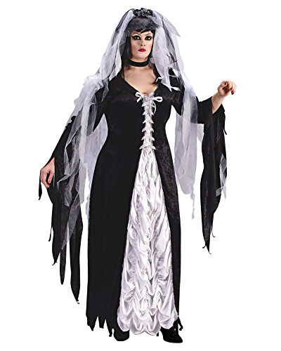 (Summitfashions Bride Of Darkness Plus Size Zombie Bride Costume Sizes: One)