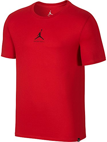 Nike Mens Jordan Dry 23/7 Jumpman Basketball T-Shirt Gym Red/Black Medium