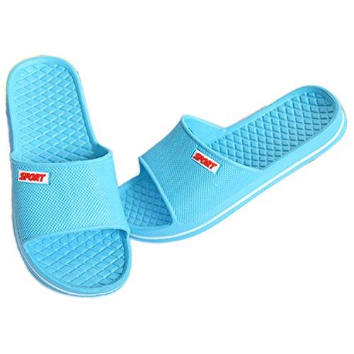Sommer Männer Frauen Hausschuhe Bad Anti-Rutsch Hausschuhe Schuhe Hellblau