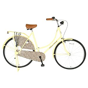 Hollandia City Leopard Dutch Cruiser Bike with Chain Guard and Dress Guard, 28 inch Wheels, 19 inch Frame, Women's Bike, Yellow