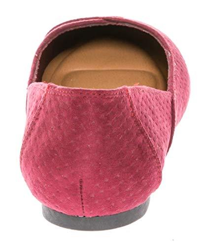 Casual su Calico Comfort Kiki On Shoes Ballerina Wine Slip Women's Flat YvSqYw1