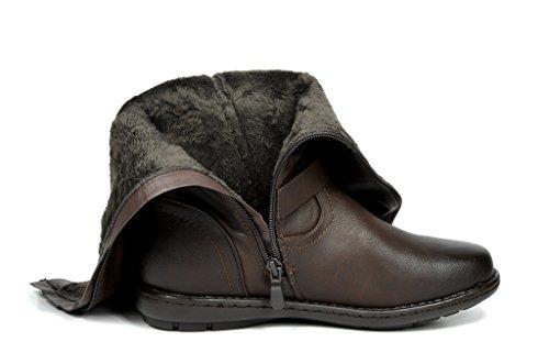 Dream Paare Frauen Faux Pelz gefüttert Kniehohe Winter Stiefel (breit-Kalb erhältlich) Spur-braun