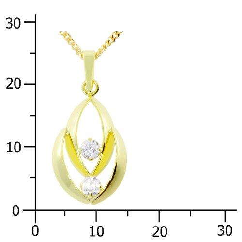 InCollections - 5410100003401 - Pendentif Femme - Or Jaune 8 Cts 333/1000 - Oxyde de Zirconium