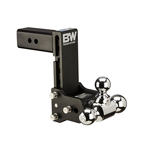 """B&W Trailer Hitches Tow & Stow Receiver 1 7/8"""" x 2"""" x 2 5/16"""" with 2.5"""" Receiver - 7"""" Drop / 7.5"""" Rise Tri-Ball Hitch"""