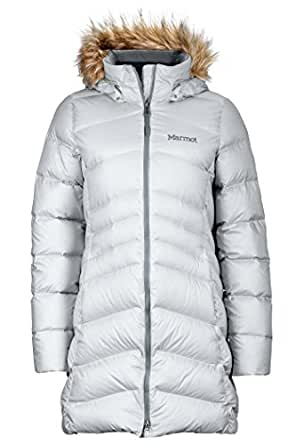 Marmot Montreal Women's Knee-Length Down Puffer Coat, Fill Power 700,Glacier Grey,X-Small