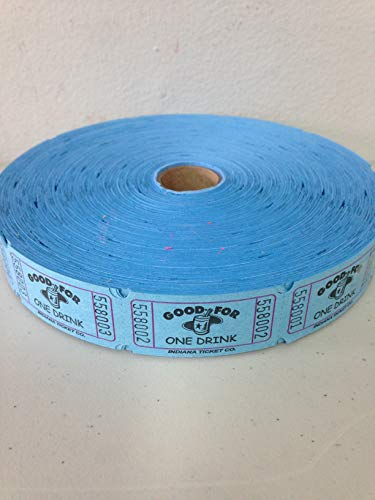 MUNCIE NOVELTY COMPANY Blue Good For One Drink Ticket Roll ()