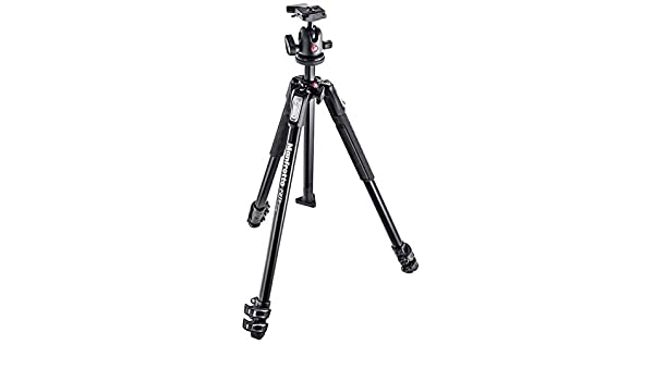 Manfrotto 190X Aluminum 3 Section Tripod with 804 MK II 3-Way Quick Release Head