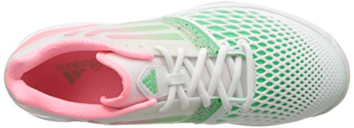 Adidas Performance Women Cc Adizero Tempaia Iii Scarpa Da Tennis Bianca / Light Flash Rosso / Light Flash Green