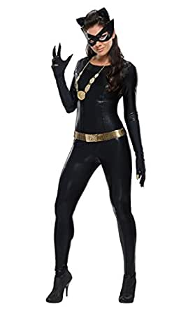 Rubies Costumes Women's Deluxe Catwoman Costume Black Small
