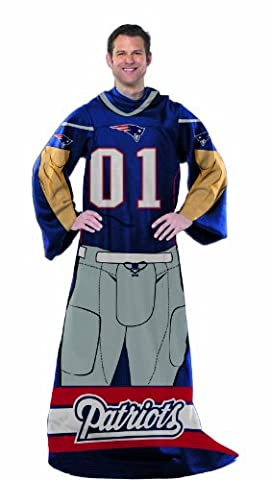 NFL New England Patriots Full Body Player Adult Comfy Throw,