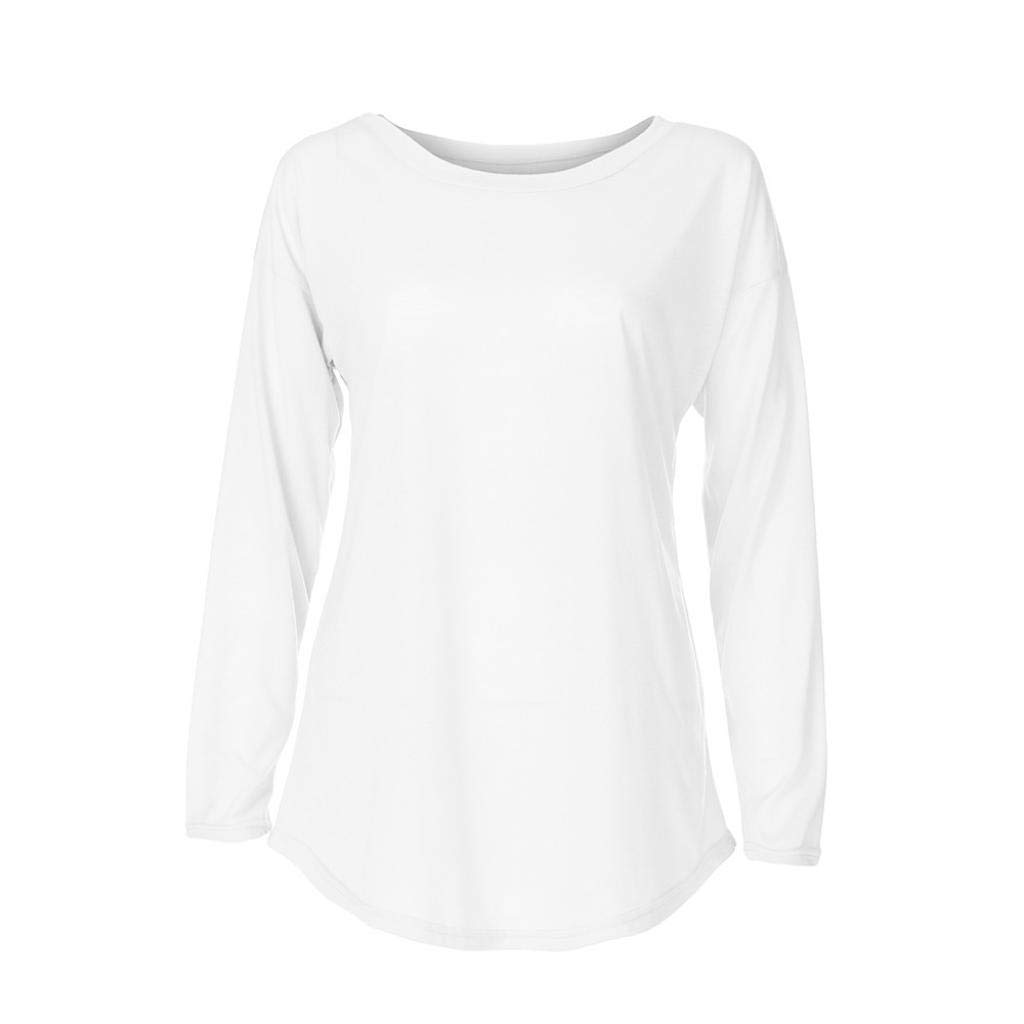 ❤ Camisa Larga de Mujer Causal, Blusa Elegante de Manga Larga Blusa Elegante de Moda Top Camiseta sólida Absolute: Amazon.es: Ropa y accesorios
