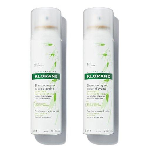 Klorane Dry Shampoo with Oat Milk Duo, 6.4 oz. by Klorane