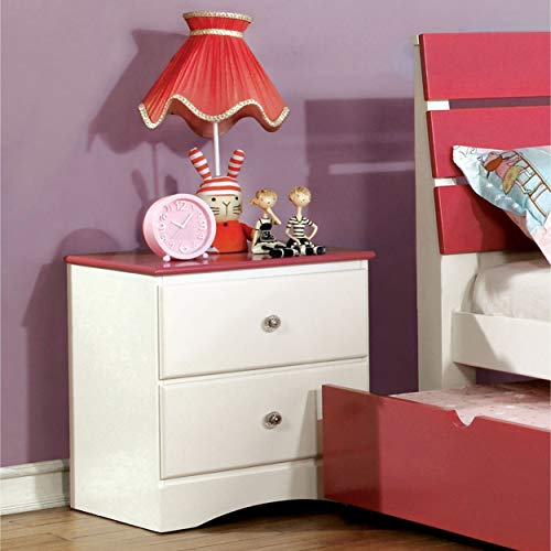 Furniture of America Piers Two-Tone Pink/White 2-Drawer Youth -
