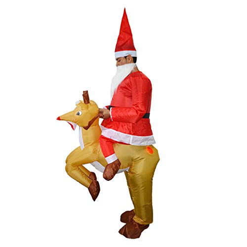 Keebgyy Halloween Inflatable Costume, Halloween Funny Festival Christmas Christmas Elk Cosplay Dress, Inflatable Blow Up Costume Performance Costume - One Size Fits Most -
