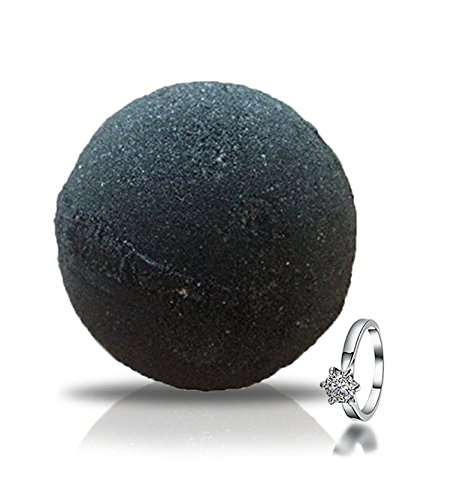 Midnight Jet Black Ring Bath Bomb by Soapie Shoppe