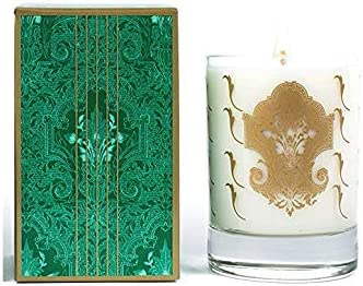 Ergo Soy Candle Holiday Pearl Collection Holiday Rosemary 10oz White Glass In Green Box Amazon Co Uk Kitchen Home
