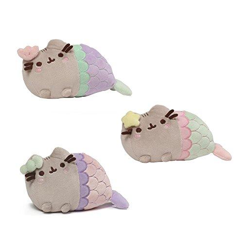 GUND Pusheen Star, Shell, & Spiral Shell Mermaid Stuffed Cat Plushies 7
