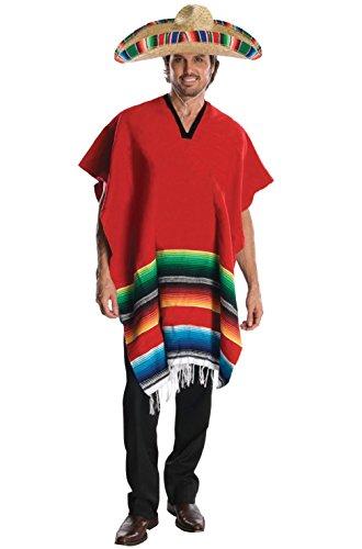 Hombre Plus Size Costumes (Mexican Hombre Poncho Men Adult Costume)