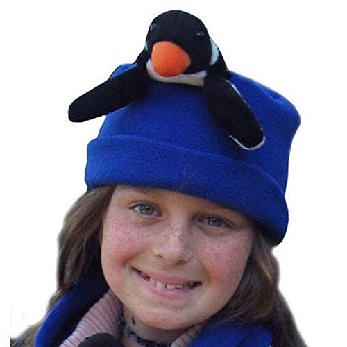 Buddy Perky Penguin Fleece Hat (Child Medium: 8-10 yrs; Cobalt Blue)