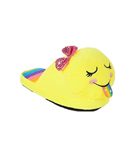 usa cheap sale cheap prices best selling Justice Girl's Rainbow Emoji Slippers - Size 2/3: Amazon.co.uk ...