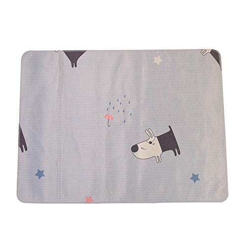 sghs0128 Pet Insulation Pad - Pet Supplies - Heatstroke Cooling - Baby Velvet Ice Pad Cold Ice Silk Cool Pad Double Waterproof Breathable Cushions Grey 7050Cm]()