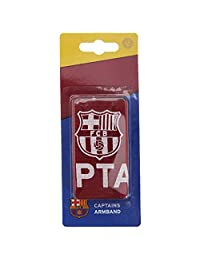 FC Barcelona Official Captains Football Crest Sports Armband (One Size) (Burgundy/White)