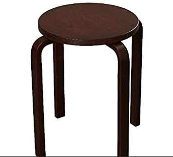 Amazon.com: Wenge Bar Stools Counter Height 18 Inches Set of 4 ...