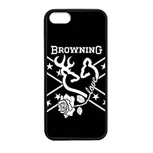 Browning Camo Deer for iPhone 5 5s Case Cover 038687 Rubber Sides Shockproof Protection with Laser Technology Printing Matte Result