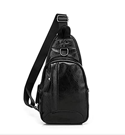 Image Unavailable. Image not available for. Color  Tuersuer Mens Travel Bag  Men s Fashion PU Leather Chest Bag Multifunction Outdoor Sports Crossbody  ... d1225d124b3a0