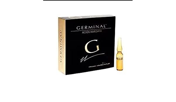 Amazon.com: Germinal Acción inmediata. 5 Cajas de 1 ampolla de 1,5 ml. 5 Ampollas Total: Beauty