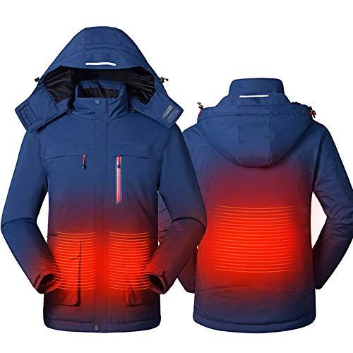 Foern Hombres Chaquetas Térmicas Inteligentes Impermeables Invierno al Aire Libre Calefacción térmica cálida USB Ropa de…